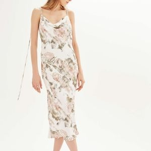 Topshop Satin Floral Slip Dress